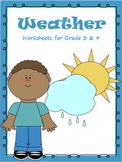 Weather - Worksheets, Activities & Bookmarks for Grade 3 &