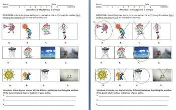Weather Worksheets     Bundle    Che tempo fa?