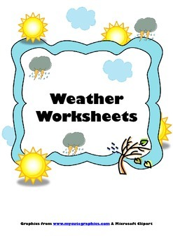 Weather Worksheets, Flashcards & Song