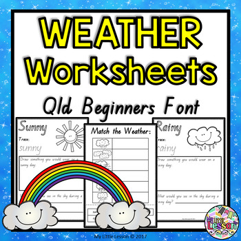 Weather Worksheets QLD Beginners Font