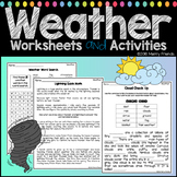 Weather Worksheets and Activities - 23 Worksheets Experiments