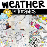 Weather Worksheets and Activities Distance Learning