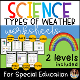 Weather Worksheets for Special Education