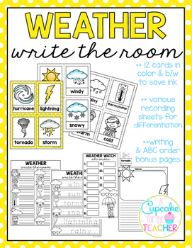 Weather Write the Room (Bonus Pages)