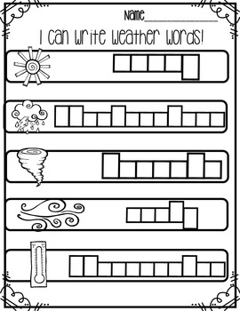 Weather Write the Room: {Differentiated Writing activities}