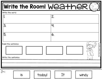 Weather {Write the Room} FREEBIE