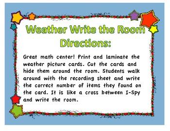 Weather Write the Room- I Spy