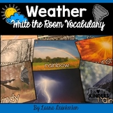 Weather Write the Room Vocabulary