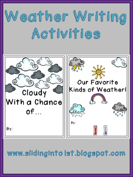Weather Writing Activities {Class Books}