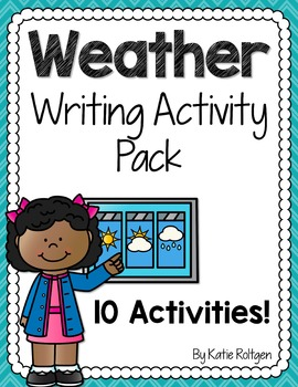 Weather Writing Activities Pack
