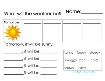 Weather Writing Activity