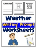 Weather Writing Prompt Worksheets