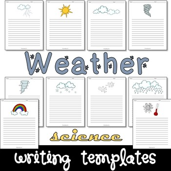Weather Science Writing Paper Set