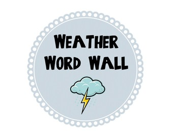 Weather and Air Word Wall Circles With Definitions of Each Term