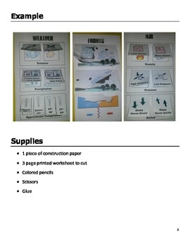 Weather and Atmosphere Foldable