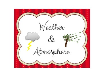 """Weather and Atmosphere """"I Can"""" bundle with NYC 2015 Scope and Sequence"""