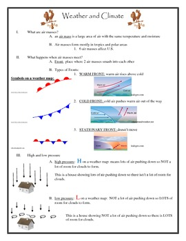 Weather and Climate Complete Unit