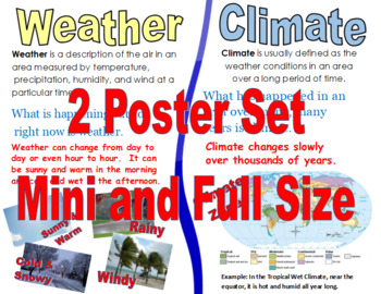 Weather and Climate 2 Poster Set