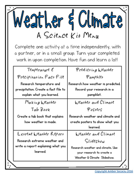 Climate worksheets for 3rd grade