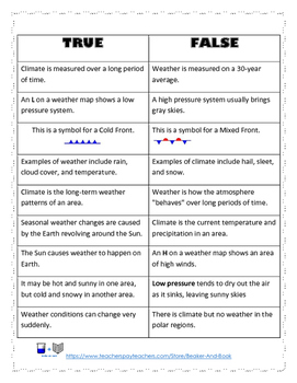 Weather and Climate Activity Pack