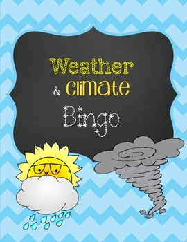 Weather and Climate BINGO