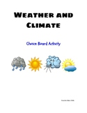 Weather and Climate Choice Board