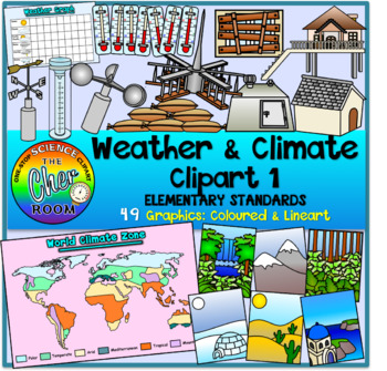 Weather and Climate Clipart 1 (Elementary Standards)