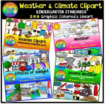 Weather and Climate Clipart (Kindergarten Standards)