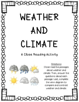 Weather and Climate Close Reading