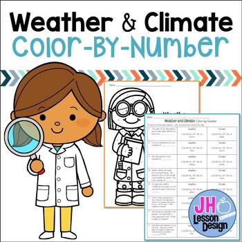 Weather and Climate Color-By-Number