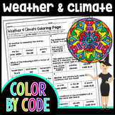 Weather and Climate Color By Number | Science Color By Number