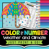 Weather and Climate - Science Color by Number | Distance Learning