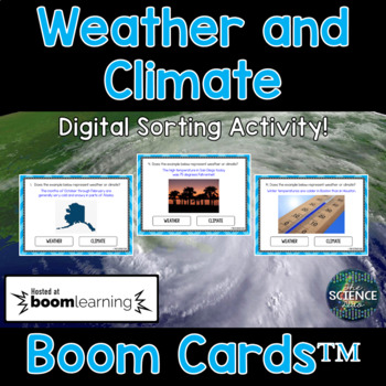 Weather and Climate - Digital Boom Cards™ Sort