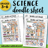 Weather and Climate Doodle Sheet - So Easy to Use! PPT Included! Notes
