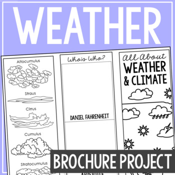 WEATHER AND CLIMATE: Earth Science Research Brochure Template Project