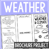 WEATHER AND CLIMATE: Earth Science Research Brochure Templ