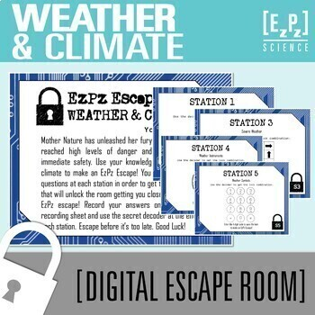 Weather And Climate Science Escape Room By EzPz Science TpT