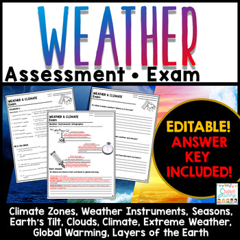Weather and Climate Exam - Assessment