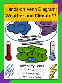Weather and Climate Hands-On Venn Diagram Activity