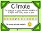 Weather and Climate Key Terms
