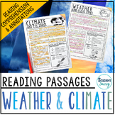 Weather and Climate Reading Passages - Questions - Annotations
