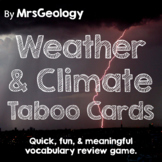 Weather and Climate Taboo Cards (Vocabulary Game)