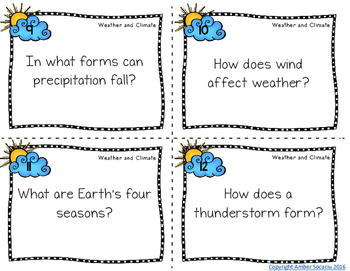 Weather and Climate Task Cards