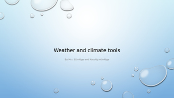 Weather and Climate Tools