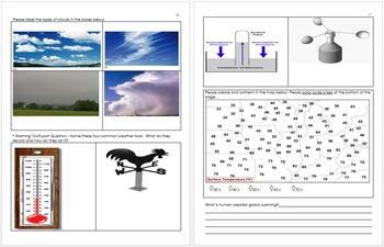 Weather and Climate Unit Homework