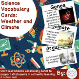 Weather and Climate Vocabulary Cards (Large)