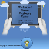Weather and Climate Vocabulary Review