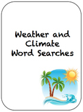 Weather and Climate Word Search with answer keys