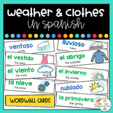 Weather and Clothes Word Wall in Spanish - El Clima y la ropa