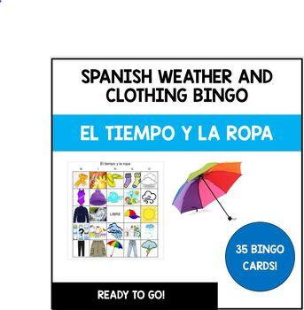 Weather and Clothing BINGO La ropa y el tiempo